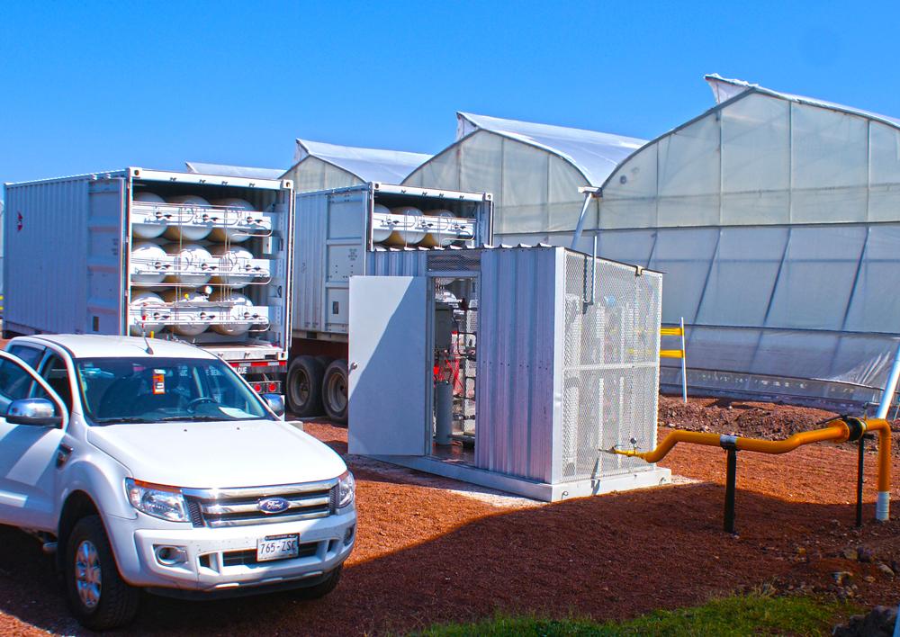 494,400 SCF of natural gas delivered to hydroponics in Numaran
